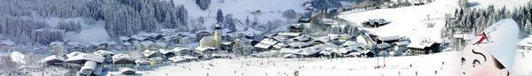 Saalbach by vintertid